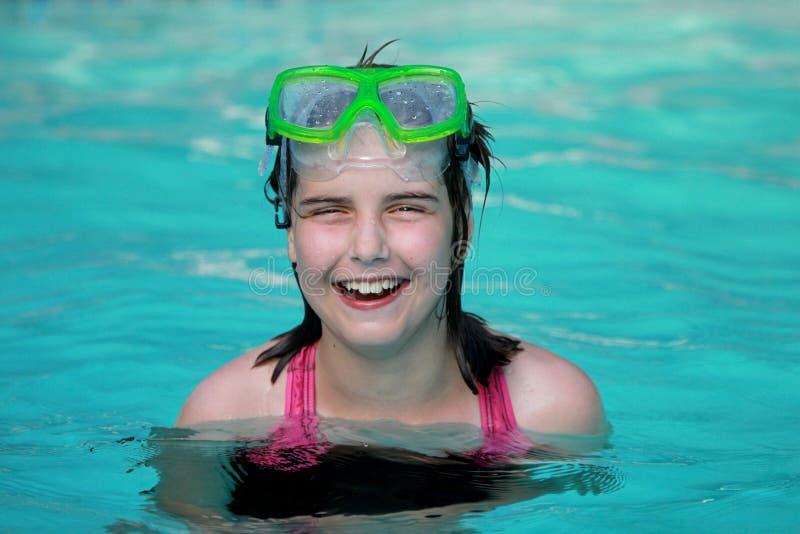 游泳池的子项 免版税图库摄影