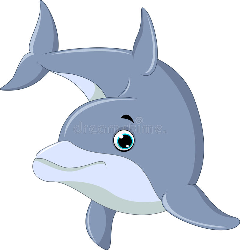 游泳海豚 皇族释放例证