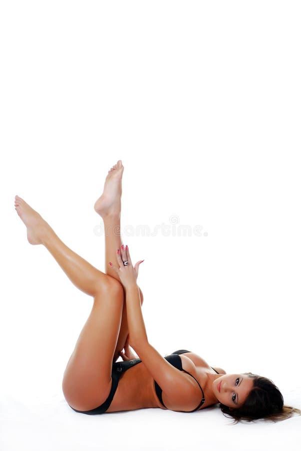 游泳衣妇女 免版税图库摄影