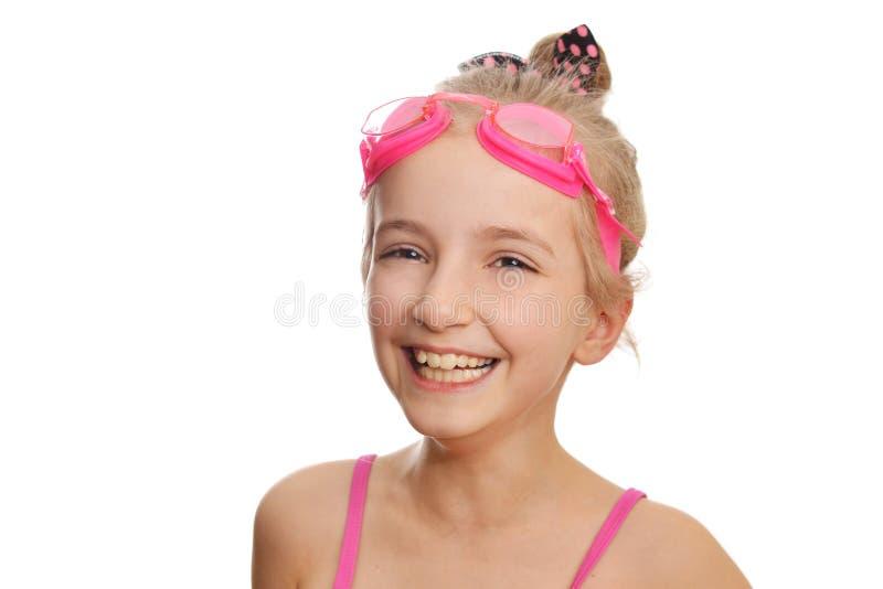游泳衣的女孩 免版税库存图片