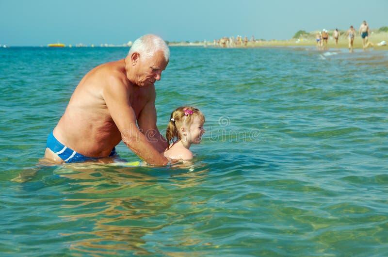 游泳课程 库存图片