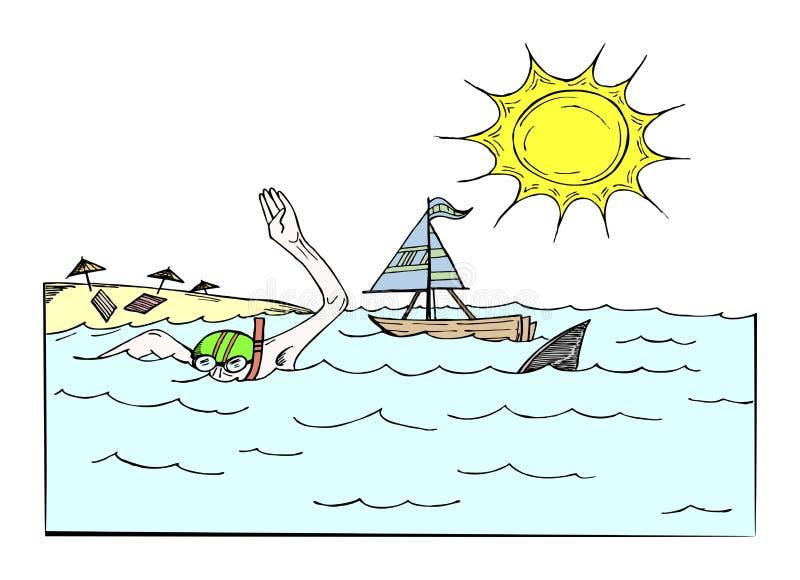 游泳 向量例证