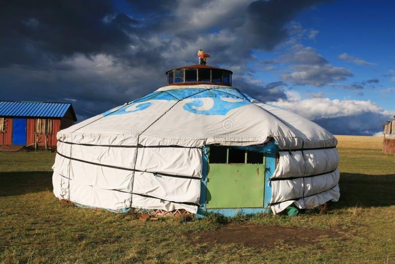 游牧人s帐篷 库存图片