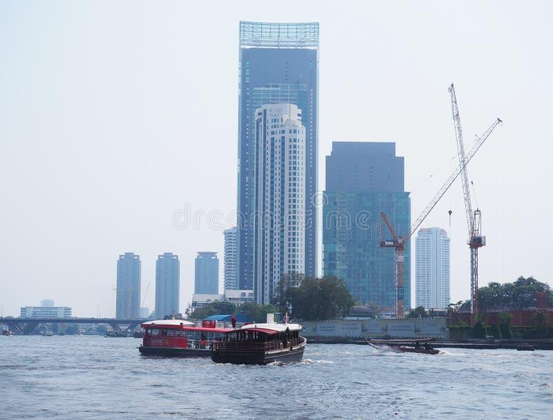 游船在曼谷,泰国 免版税库存照片