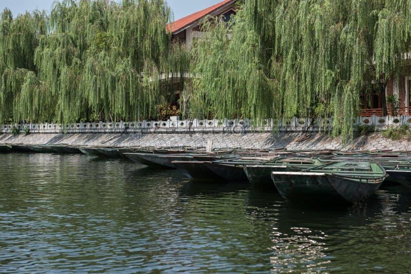 游船在Hoa Lu 库存图片