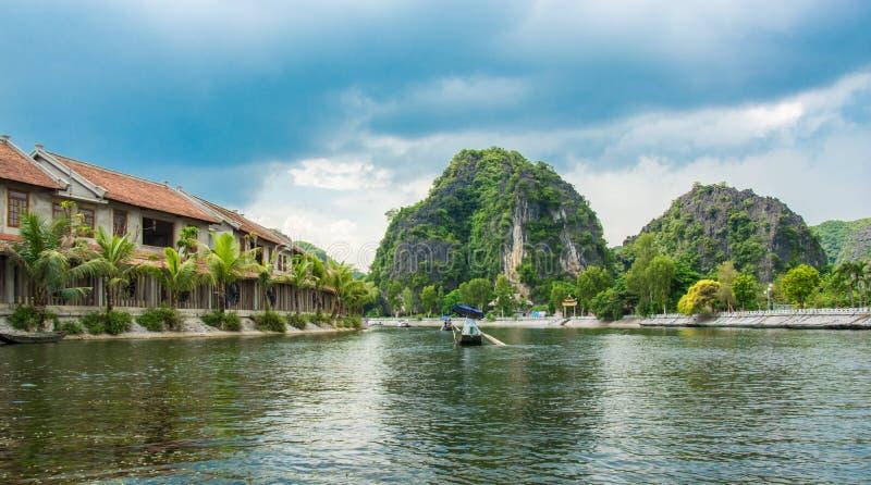 游船多数普遍的地方在越南 免版税库存图片