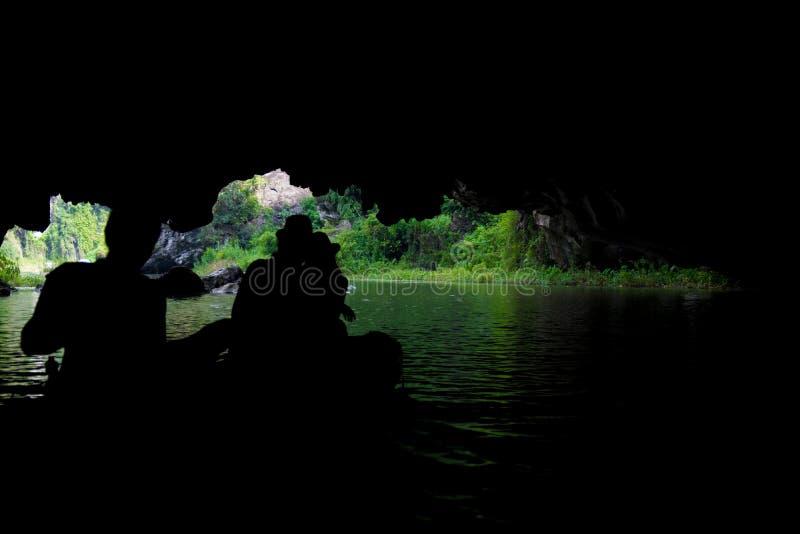 游船多数普遍的地方在越南 免版税库存照片