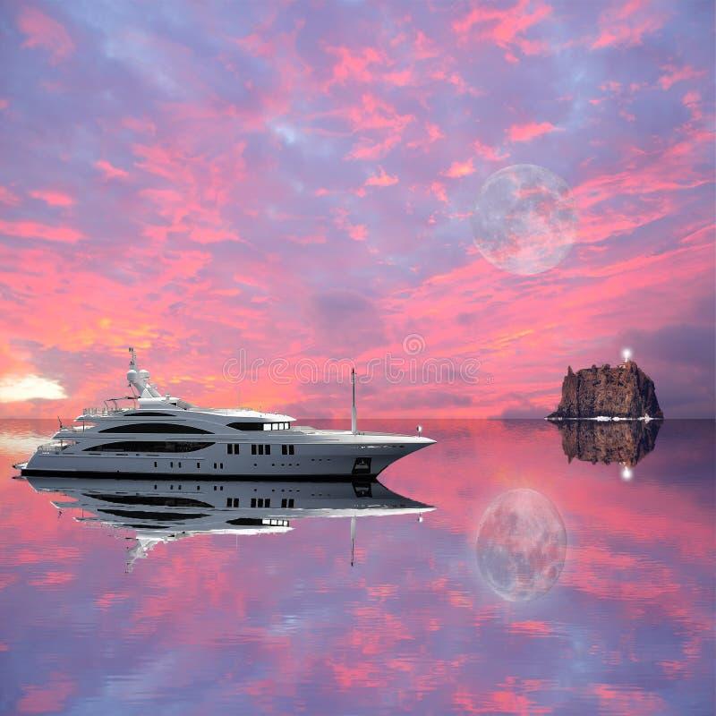 游艇。 免版税库存照片