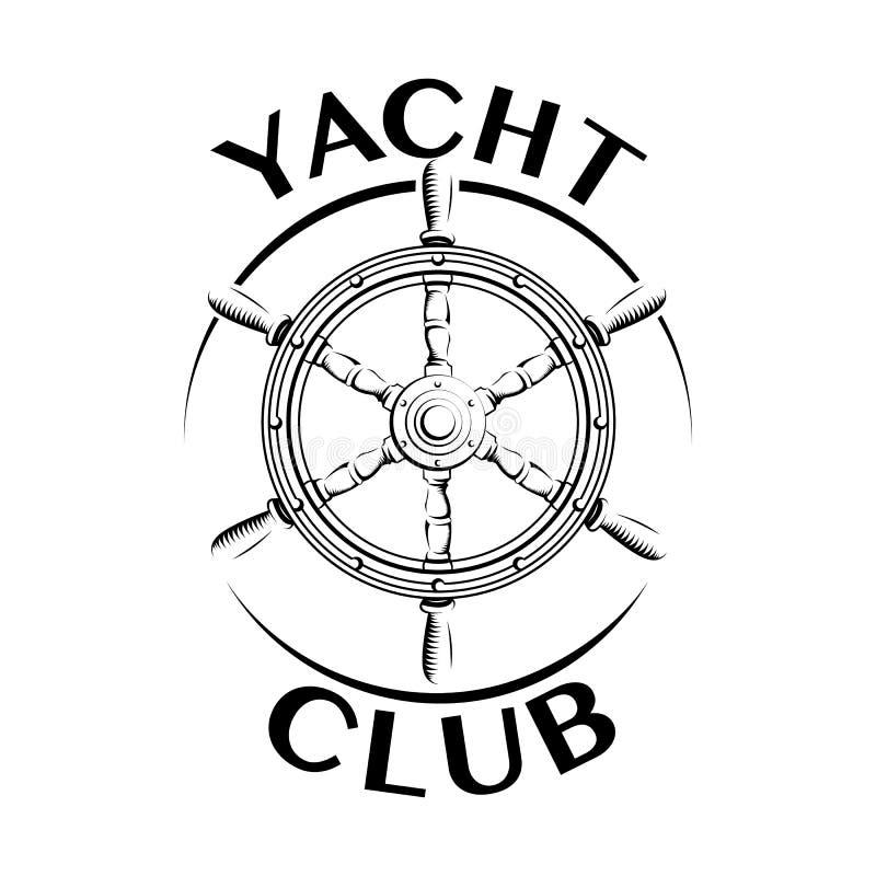 游艇俱乐部商标 向量例证