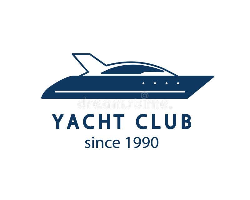 游艇俱乐部商标 库存例证