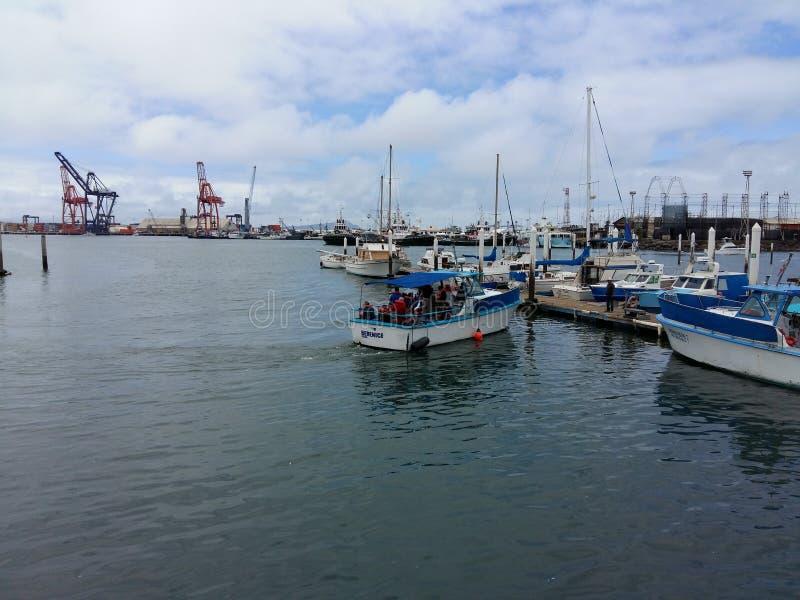 游艇到达 图库摄影