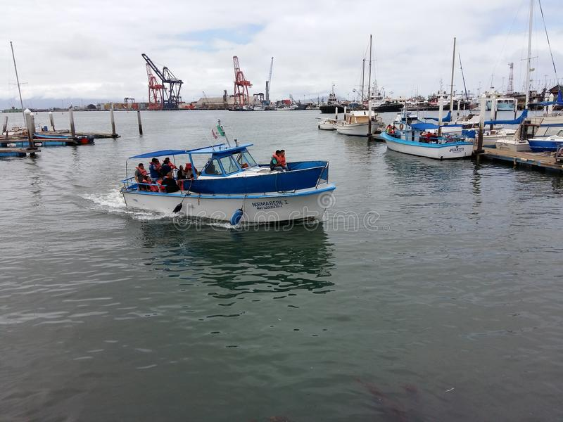 游艇到达 免版税库存图片