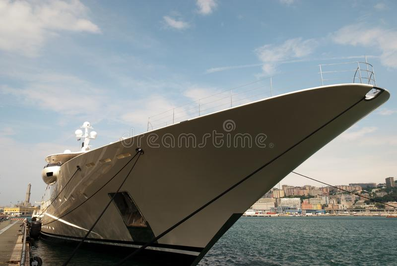 游艇和小船细节在热那亚 免版税库存图片