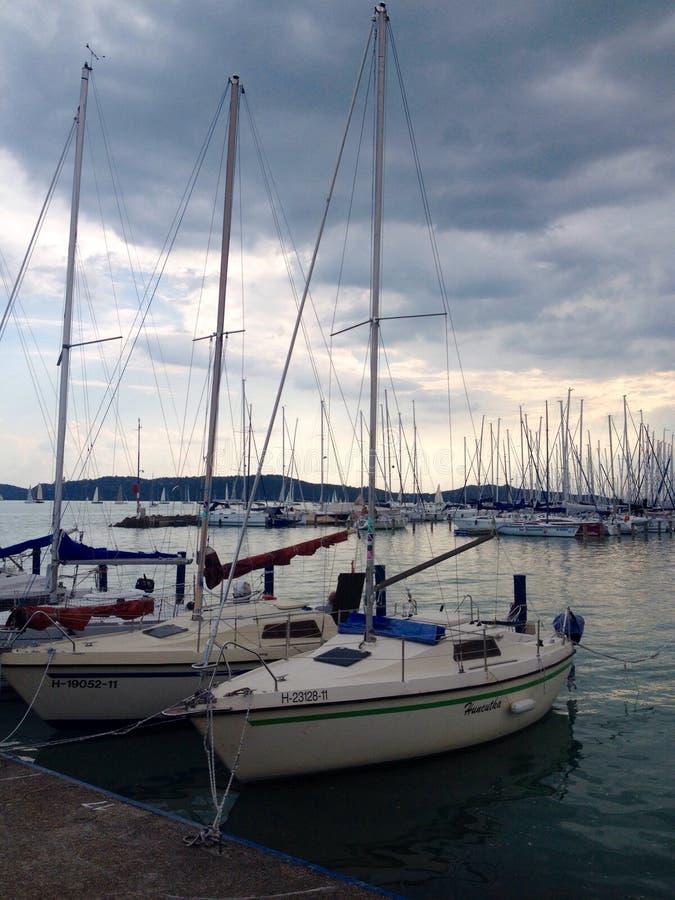 游艇和小船 免版税库存图片