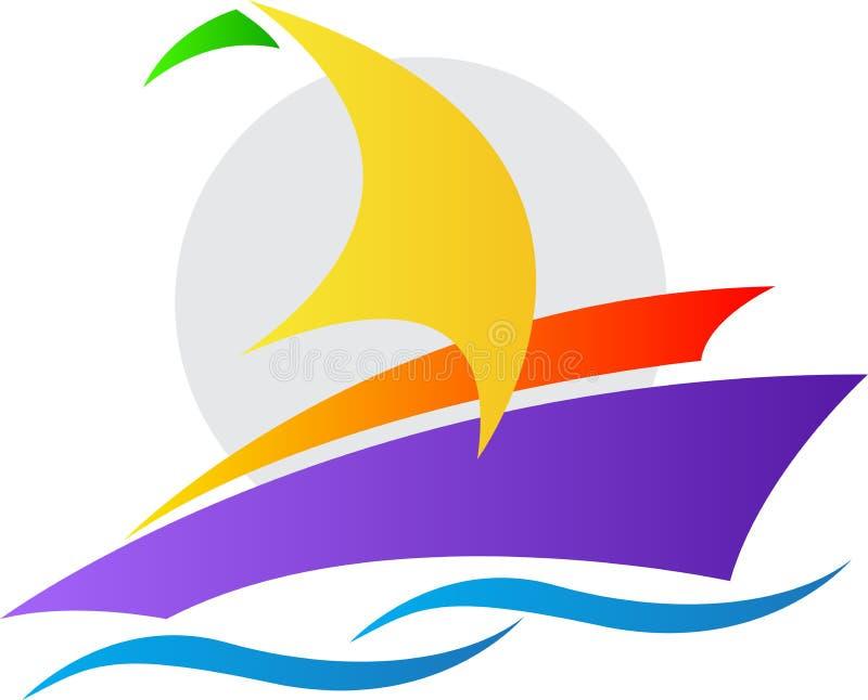 游艇商标 向量例证