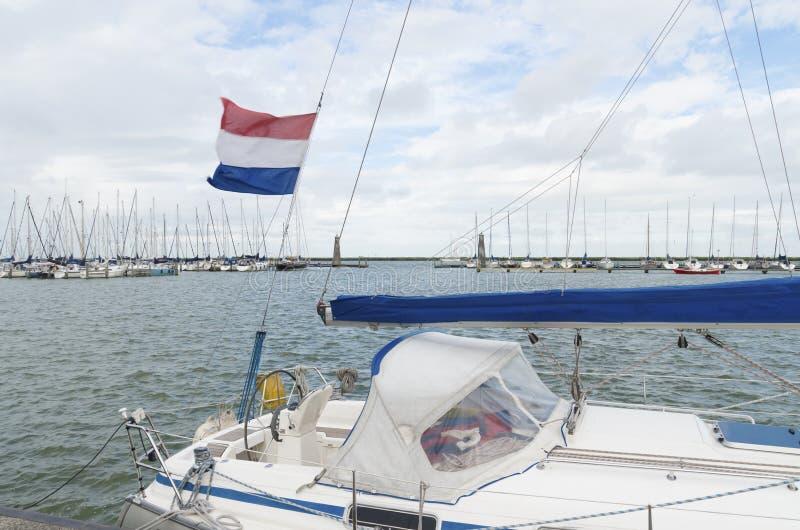 游艇在港口 免版税图库摄影