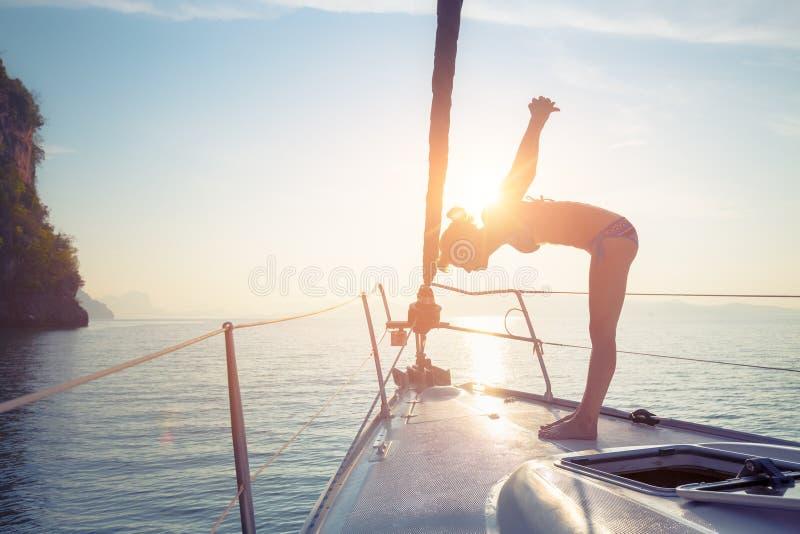 游艇的夫人 免版税图库摄影