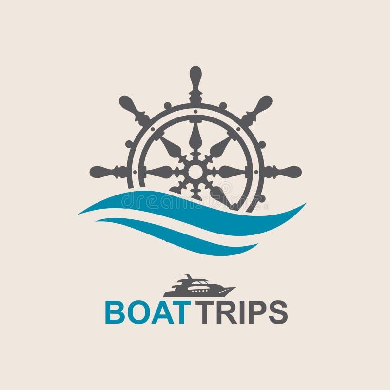 游艇舵轮子 向量例证