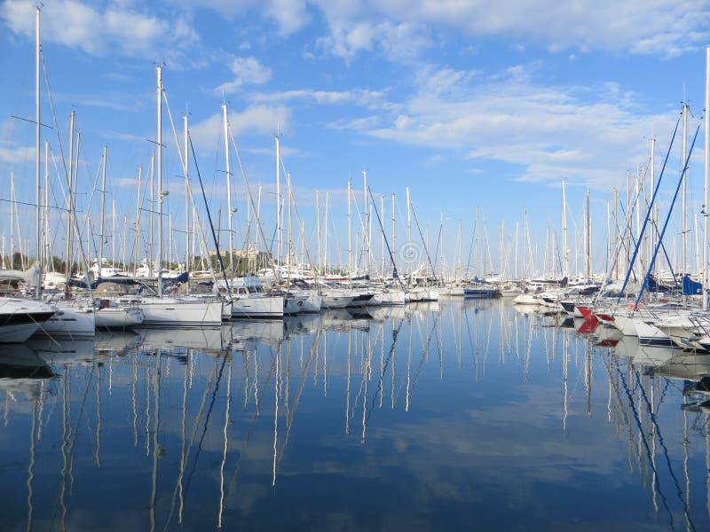 游艇船坞 免版税库存照片