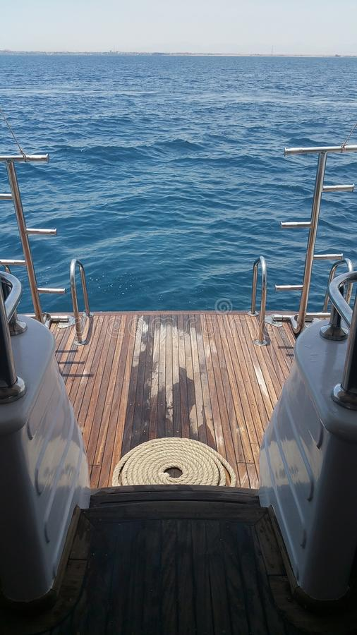 游艇视图 库存照片