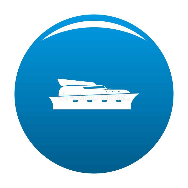 游艇象蓝色传染媒介 库存例证