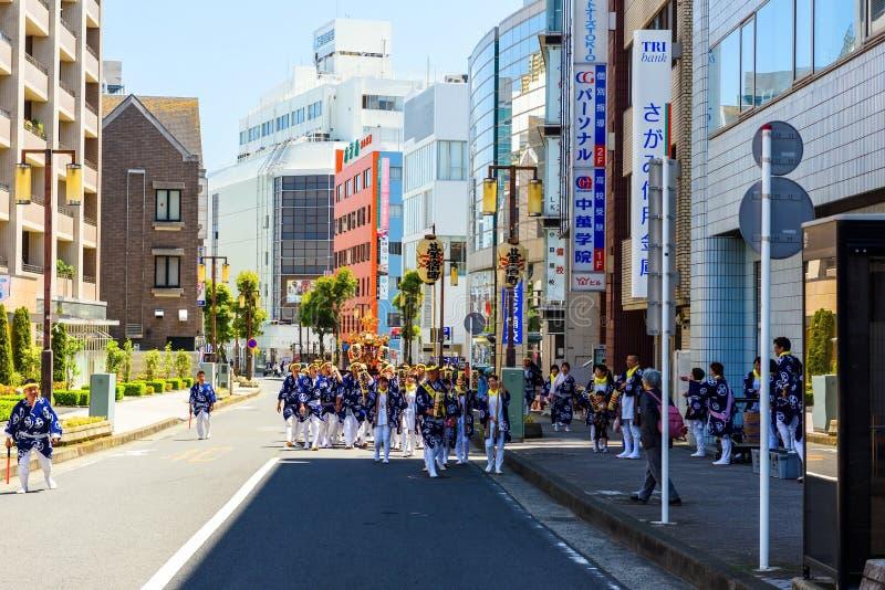 游行便携式寺庙在小田原都市市 免版税库存图片
