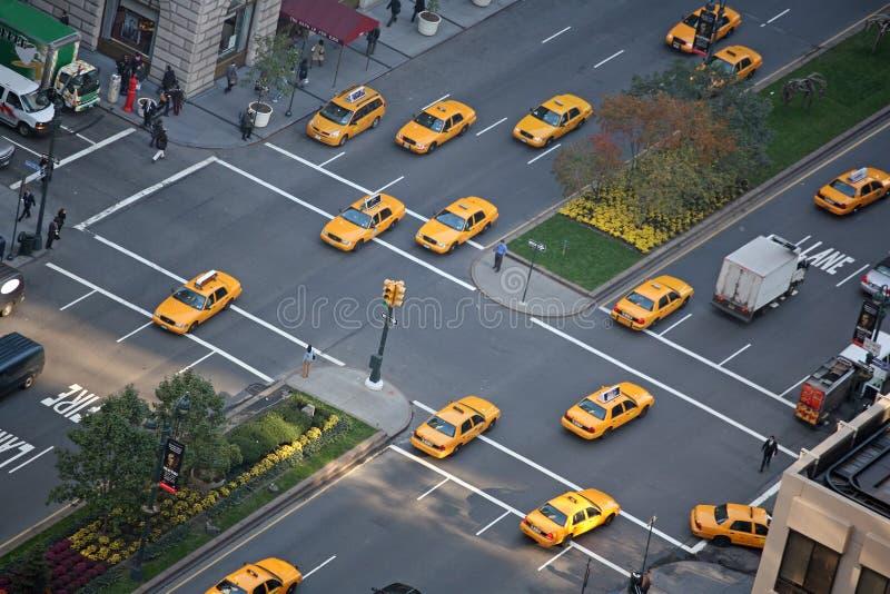 游行出租汽车 库存图片