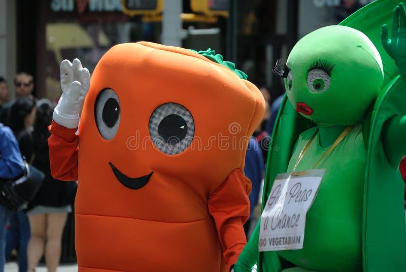 游行自豪感素食主义者 免版税库存照片