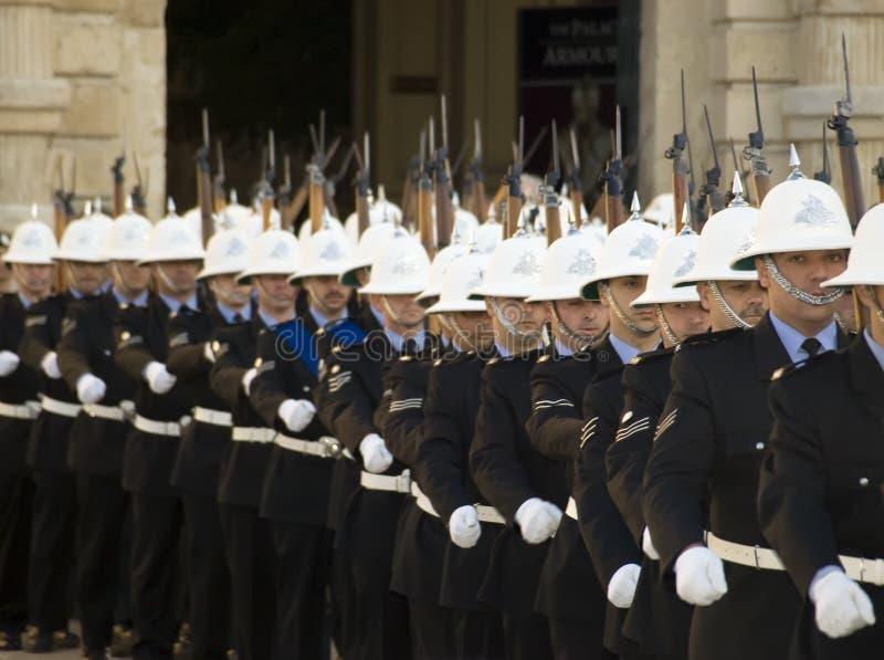 游行警察 免版税库存图片