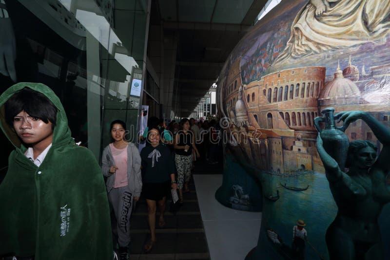 游行cosplayer在曼谷 免版税库存照片