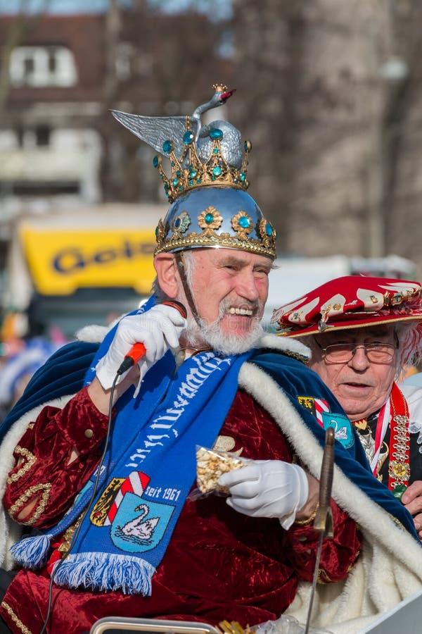 游行Fasching德国狂欢节纽伦堡 库存图片