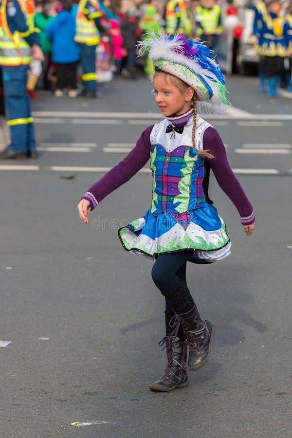 游行Fasching德国狂欢节纽伦堡 免版税库存照片