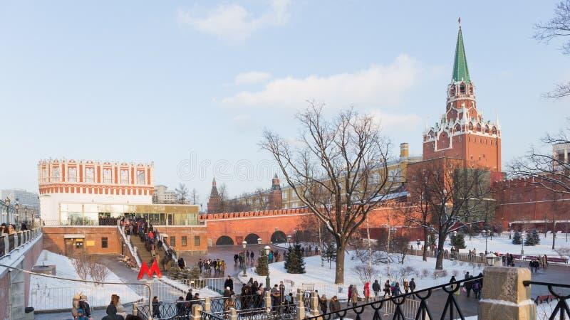 游览向克里姆林宫,俄罗斯 免版税库存图片