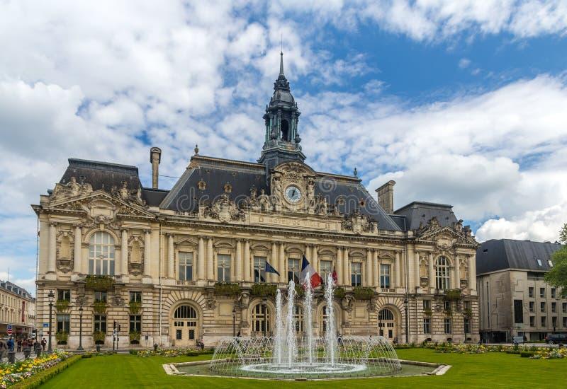 游览城镇厅-法国 免版税库存照片