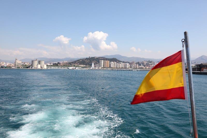 从游览小船的马拉加 免版税图库摄影