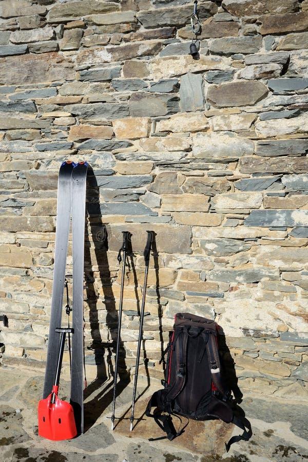 游览工具的滑雪 库存照片
