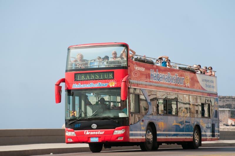 游览车在哈瓦那 古巴 免版税库存照片