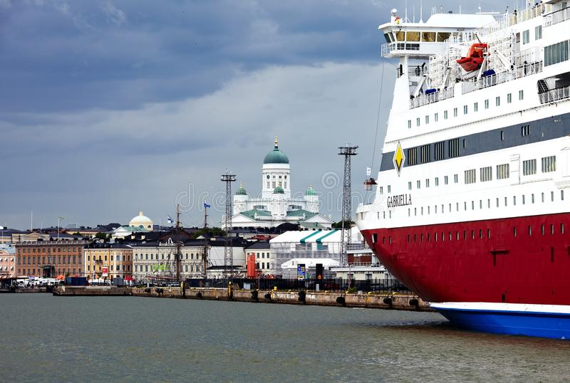 游轮北欧海盗线 库存图片