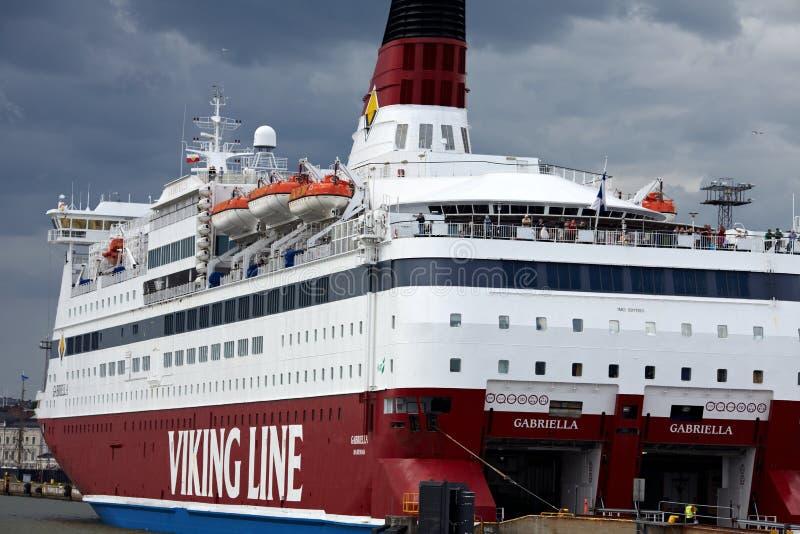 游轮北欧海盗线 免版税库存照片