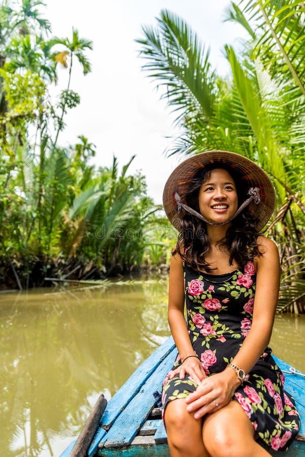 湄公河三角洲在越南 免版税库存图片