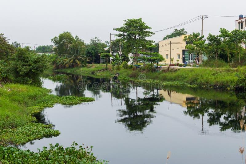湄公河三角洲在越南 库存照片