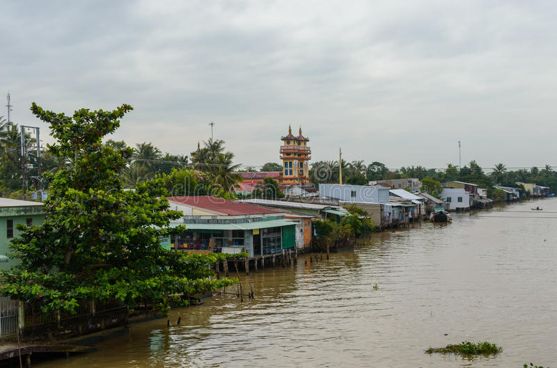 湄公河三角洲在越南 库存图片