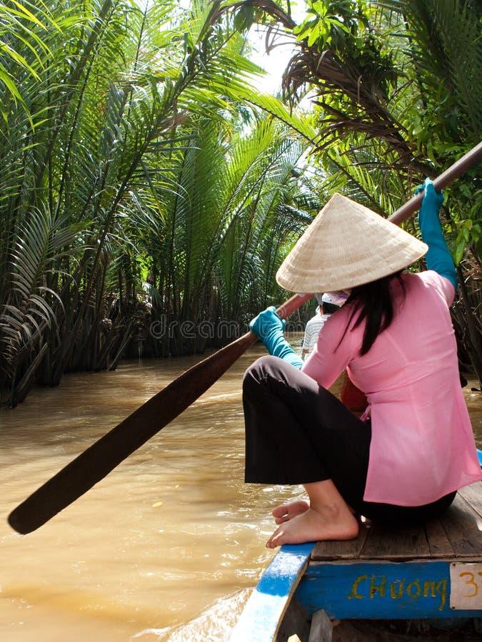 湄公河三角洲越南 库存照片