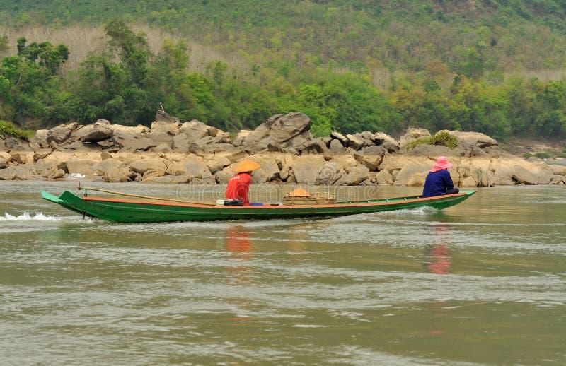 湄公河在琅勃拉邦 库存图片
