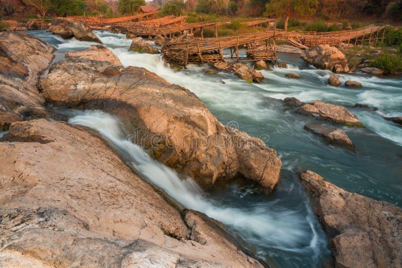 湄公河在老挝 免版税库存照片