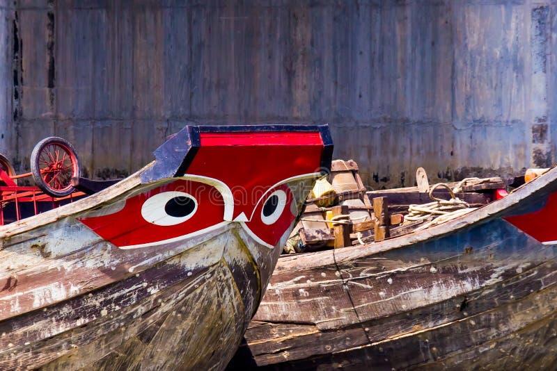 湄公河小船 库存图片