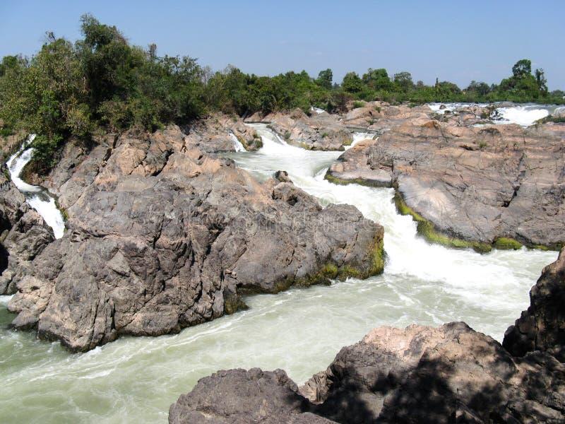 湄公河急流 免版税库存图片