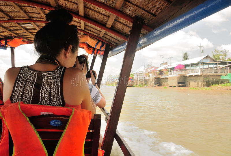 湄公河越南游览 图库摄影
