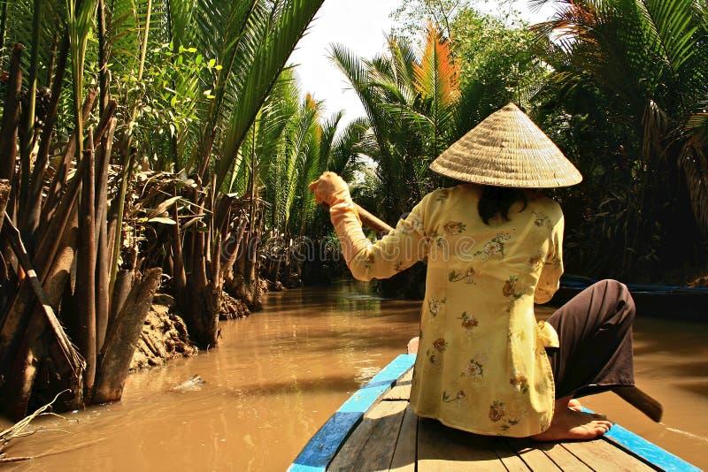 湄公河,越南 免版税库存图片