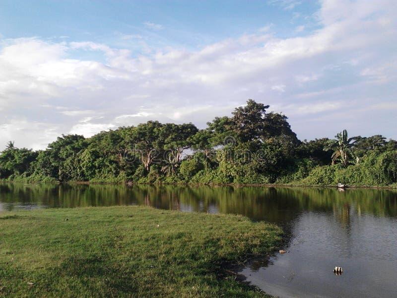 湖一点 免版税图库摄影